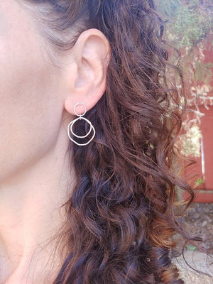Dangle Hoop Stud Earrings