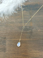 Load image into Gallery viewer, Moonstone Y Necklace