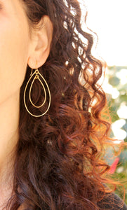 Large Double Hoop Earrings