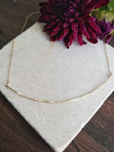 Load image into Gallery viewer, Thin Curved Bar Necklace