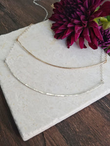 Thin Curved Bar Necklace