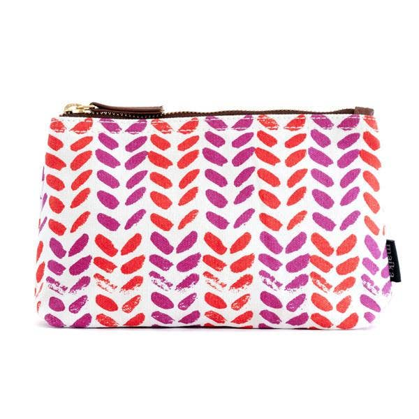 MAIKA - Leaves Canvas Pouch Large
