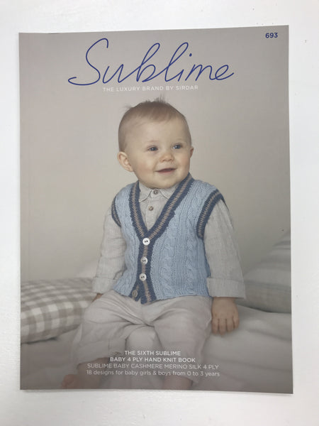 The Sixth Sublime Baby 4 Ply Hand Knit Book