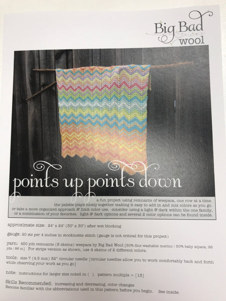 Points Up Points Down Blanket Pattern