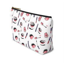 Load image into Gallery viewer, Eyes Makeup Bag with T-Bottom