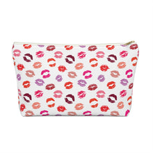 Load image into Gallery viewer, Lips Make Up Bag with T-bottom