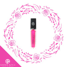 Load image into Gallery viewer, Summer Royce, House of Beauty, Channing, Luxe Lip, Lip Gloss, Gloss, Light Up, LED, with mirror, clickable button, Tube, floral, hot pink