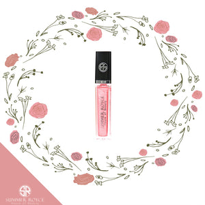 Summer Royce, House of Beauty, Joe, Luxe Lip, Lip Gloss, Gloss, Light Up, LED, with mirror, clickable button, tube, floral, peachy, peachy pink
