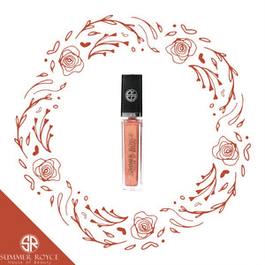 Summer Royce, House of Beauty, Shemar, Luxe Lip, Lip Gloss, Gloss, Light Up, LED, with mirror, clickable button, Tube, floral, bronze, glittery bronze