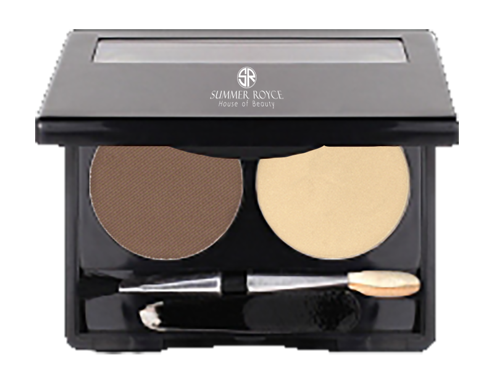 Summer Royce, House of Beauty, Luxe Hi-Brow Pallet, Powder and Wax, tweezers included, wax pomade, powder, brow powder, brow wax, deep brown, angle applicator, 2 pallet