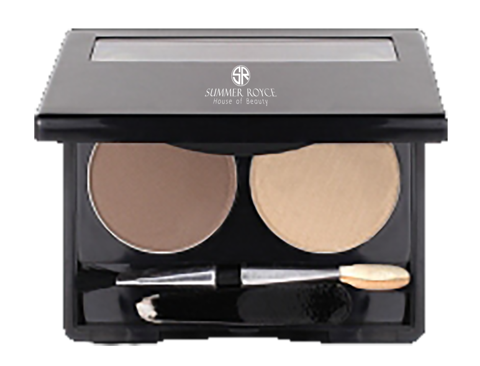 Summer Royce, House of Beauty, Luxe Hi-Brow Pallet, Powder and Wax, tweezers included, wax pomade, powder, brow powder, brow wax, desert brown, angle applicator, 2 pallet