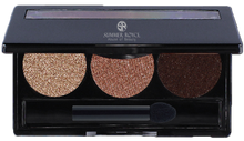 Load image into Gallery viewer, summmer royce, summer royce house of beauty, luxe eyeshadow pallet, 3 shades, Audrey, perfection, missfit, minx, eyeshadow pallet, neutral eyeshadow, brown eyeshadow, eyeshadow