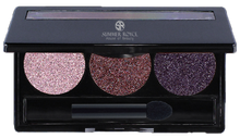 Load image into Gallery viewer, summmer royce, summer royce house of beauty, luxe eyeshadow pallet, 3 shades, Lucille, Pink panther, Medieval, Persian, eyeshadow pallet