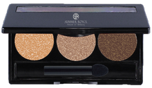 Load image into Gallery viewer, summmer royce, summer royce house of beauty, luxe eyeshadow pallet, 3 shades, Marilyn, Devilish, Blow Dry, Mud Bath, eyeshadow pallet