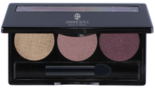 Load image into Gallery viewer, summmer royce, summer royce house of beauty, luxe eyeshadow pallet, 3 shades, sophia, way cool, flashy, fig, eyeshadow pallet