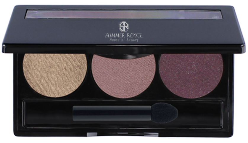 summmer royce, summer royce house of beauty, luxe eyeshadow pallet, 3 shades, sophia, way cool, flashy, fig, eyeshadow pallet