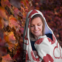 Load image into Gallery viewer, Kiss Hooded Blanket Fleece