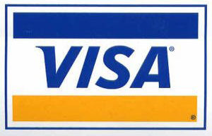 Visa card payments accepted