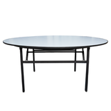 10 Seater Round Folding Wooden Table