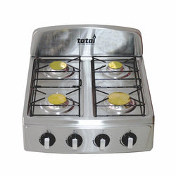 Hot Plate - 4 Burner Stainless Steel