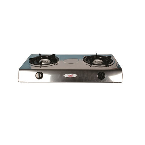 Hot Plate - 2 Burner Polished Steel