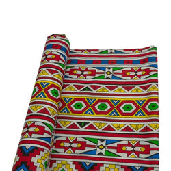 Printed Polycotton - Ndebele Design