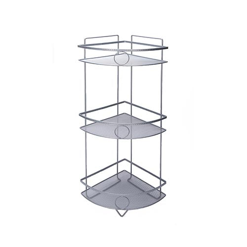 Shower Caddy - 3 Tier Shiny Grey