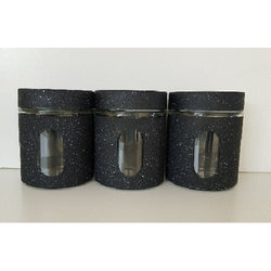 Canister Sets - 3 Pcs Sets Marble Look