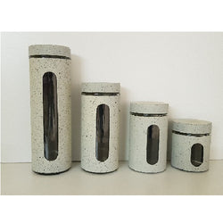 Canister Sets - 4 Pcs Marble Look