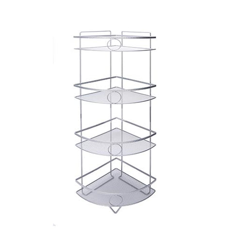 Shower Caddy - 4 Tier Shiny Grey