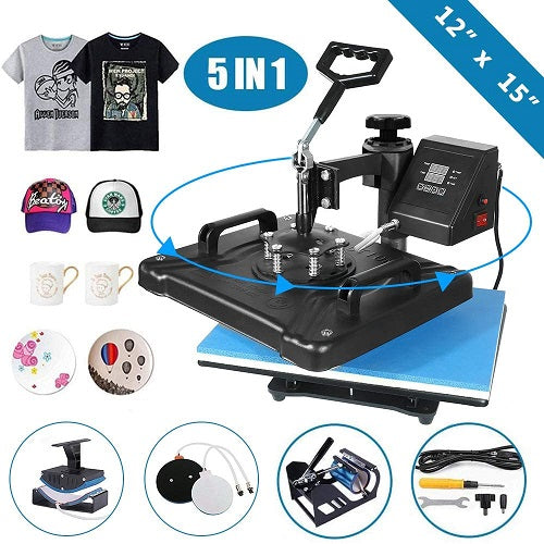 Heat Press - 5 in 1 Digital Transfer Sublimation