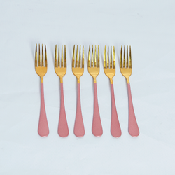 Cutlery Sets - Flat Handle - Pink