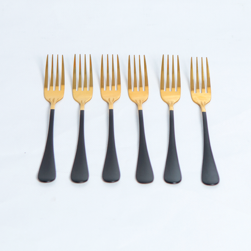 Cutlery Sets - Flat Handle - Black