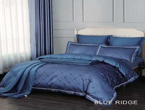 Cotton Comforter Set - 7pc Blue Ridge