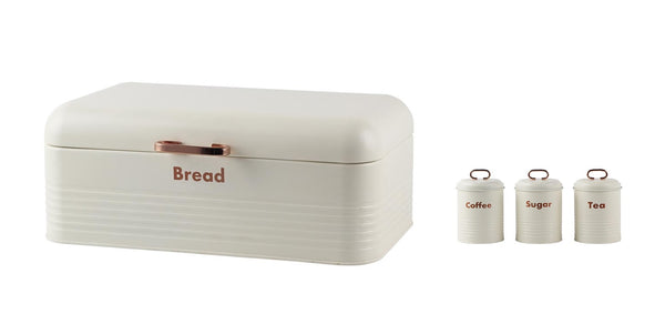 Steel Bread Bin & Canister Set
