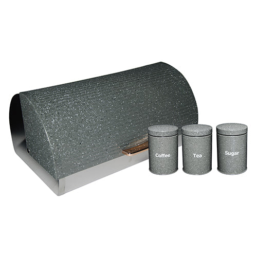 Bread Bin with 3pc Canisters