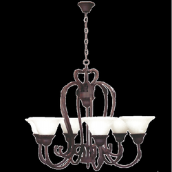 Chandelier Light - CH067/6 Rust