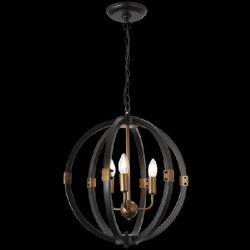 Chandelier Light - CH081/3 Black Gold