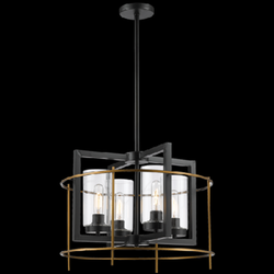 Chandelier Light - CH082/4 Black Gold