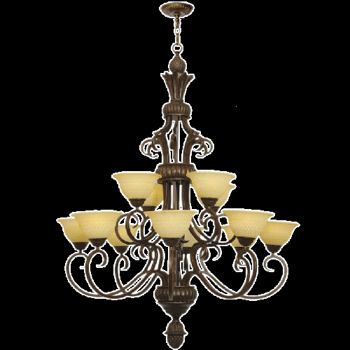 Chandelier Light - CH1478/8+4 Old Gold