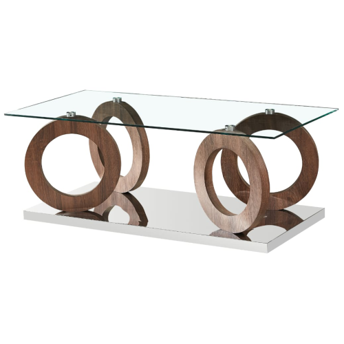 Rectangle Glass Top Clear Coffee table - CT632