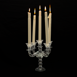 Candle Holder - Glass - 5 Spoke