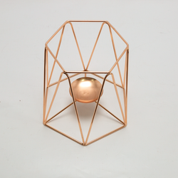 Center piece- Wire Vases Hexagon Bucket