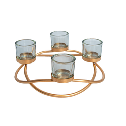 Candle Holders - 4 Cup Swirl