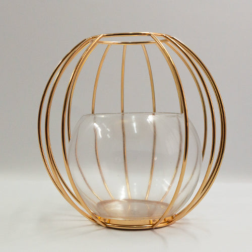 Center Piece - Wire Vase round