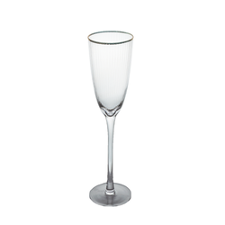 Champagne Flute - Gold Rim X-Ray - 6's