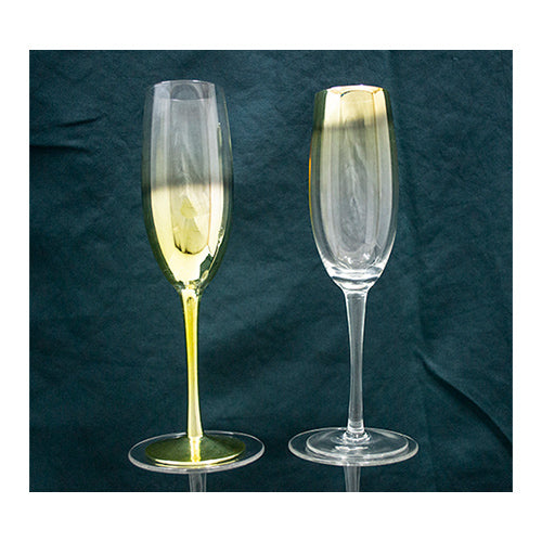 Champagne Flute - Colours Gold-  6's