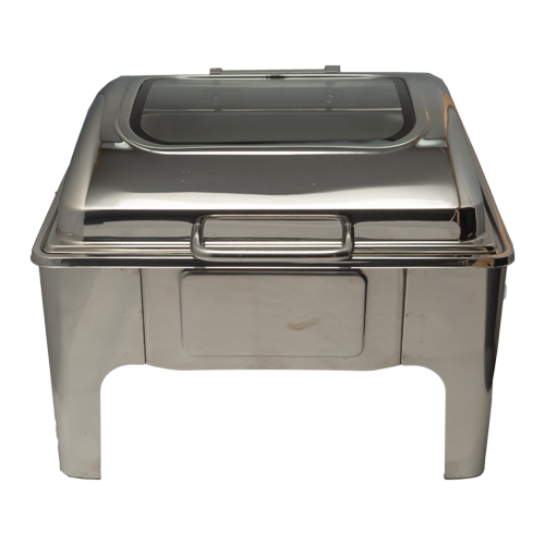 Chafing Dish - Square Flat Top With Glass