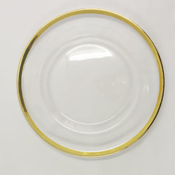 Underplates - Glass Gold Edging