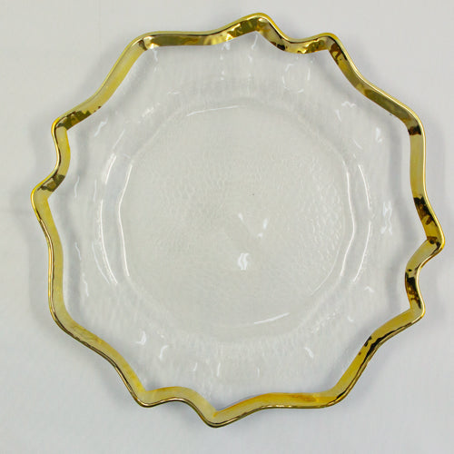 Underplates - Glass Gold Arabian